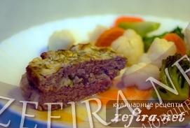 Рецепт мясного кекса