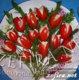 """Рассылка кулинарного блога Закуска  """"Букет из помидоров """""""