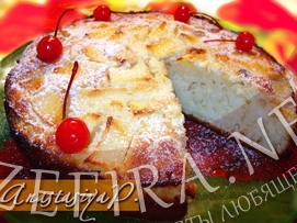 """Яблочный пирог с заливкой """"Нежный"""""""