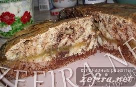Постный пирог маково-шоколадно-лимонный - рецепт на конкурс