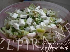 Салат с вешенками и творогом