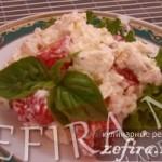 Рецепт вкусного салата с копченой курицей, помидорами черри и сыром