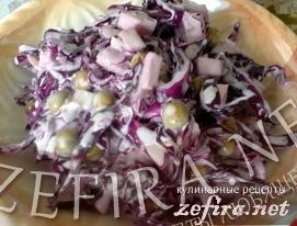 Рецепт салата из красной капусты