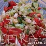 Рецепт овощного салата с курицей «Венеция»