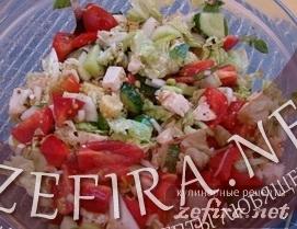 "Рецепт овощного салата с курицей ""Венеция"""