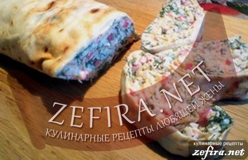 егкие вкусные рецепты рулетов из лаваша