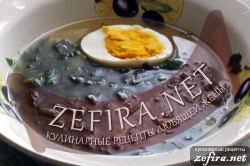 Рецепт супа из крапивы и щавеля