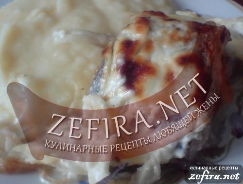 Запеченный пеленгас со сметанной корочкой