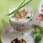 Холодный суп из зелени с огурцами на кефире – болгарская кухня