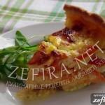 Рецепт открытого пирога с помидорами и брынзой