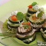 Рецепт закуски «Башенки из кабачков»