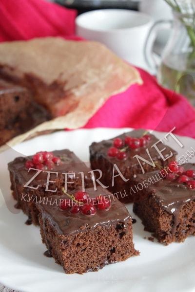 "Шоколадный пирог с цуккини ""Три шоколада"""