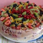 """Летний рецепт торта с желе и фруктами """"Фруктовая фантазия"""""""
