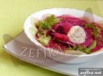 Холодник с колбасой и салатом
