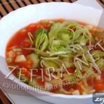 Холодный овощной суп «Гаспаччино»