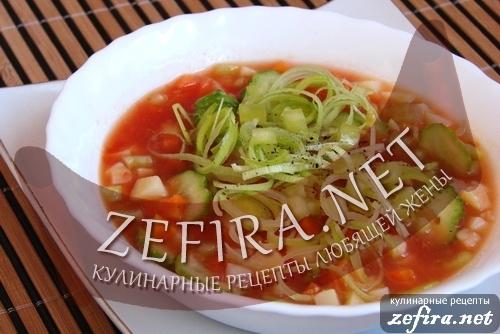 """Холодный овощной суп """"Гаспаччино"""""""