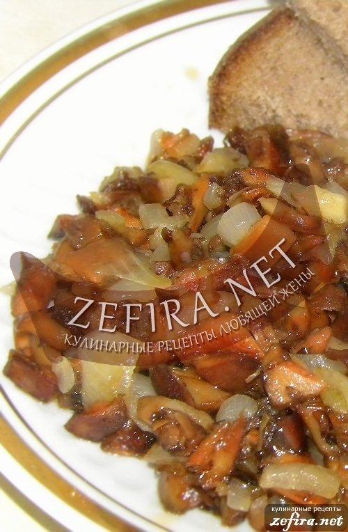 Жарим рыжики с картошкой рецепт с фото