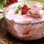 Рецепт необычного десерта — Белковое суфле с малиной