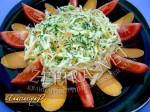 Овощной салат со свежим кабачком