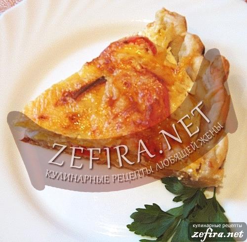 Пирог-тарталетка с кабачками и болгарским перцем