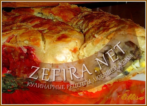 Пирог-улитка с тремя начинками
