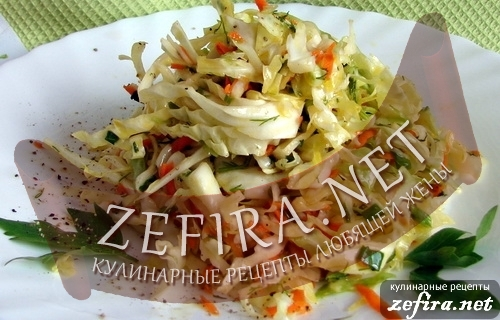 Салат из свежей капусты – простой рецепт