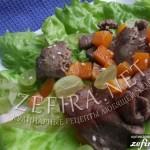 Теплый салат с куриными печенками и тыквой «Осень за окном»