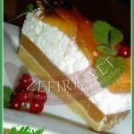 Торт без выпечки «Персиковая нежность»
