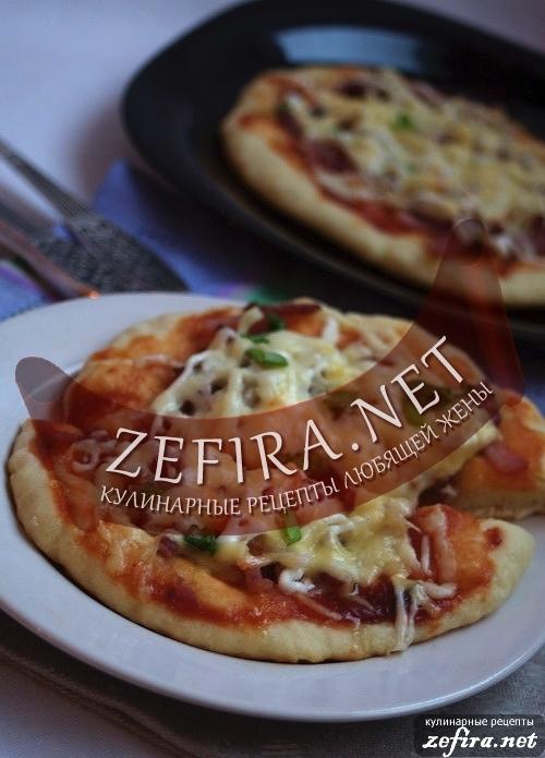 Рецепт мини-пиццы на творожном тесте