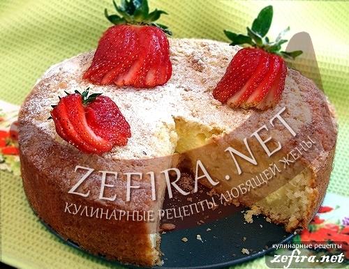 Рецепт вкусного пирога с нежной творожной начинкой