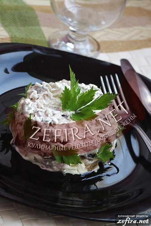 Салат из баклажан - рецепт холодной закуски