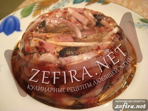 заливное русская закуска рецепт
