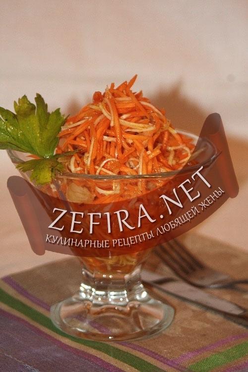 Морковка с сельдереем по-корейски