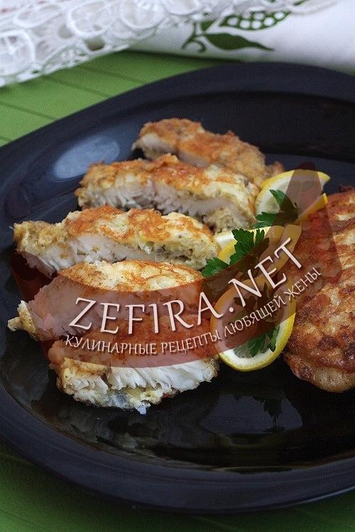 Рыбное филе c сырной корочкой