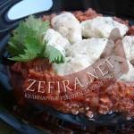 Рецепт клёцек из кабачка с мясным соусом