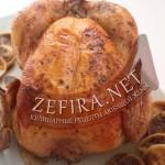 Курица запеченная с чесноком и инжиром