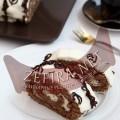 Шоколадный бисквитный рулет с кремом из маскарпоне