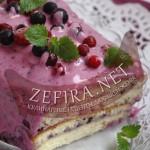 Простой рецепт торта со сметанно-ягодным кремом