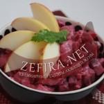 Салат с селедкой, свеклой и фасолью