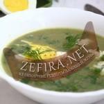 Суп из щавеля с плавленым сырком и яйцами