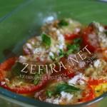 Кабачки запеченые с помидорами и сыром