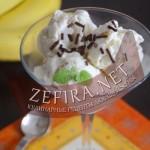Мороженое из творога с бананом