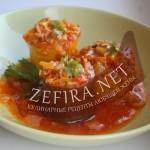 Цуккини фаршированные рисом, овощами и грибами