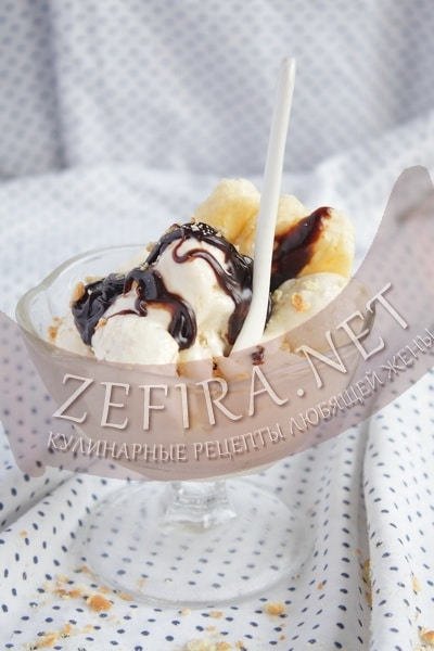 Мороженое из творога с бананами