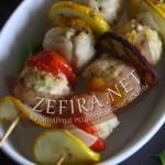Курица с овощами – рецепт небольших шашлычков