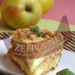 Слоеный пирог с творогом и яблоками