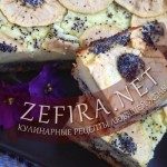 Пирог с маком и творожной начинкой