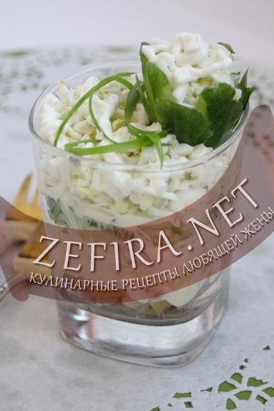 Салат из копченой скумбрии (фото)
