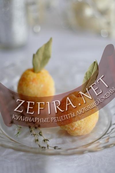 Красивое оформление детского блюда - яблоки из картофеля (фото)
