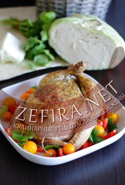 Фаршированная курица (фото)